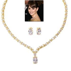 ブライダル ネックレス セット ダイヤモンド 18金 ペネロペ クルス コレクション|celeb-cz-jewelry