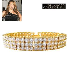 ブレスレット ダイヤモンド 18金 ゴールド テニスブレスレット | 3連 ブレスレット|マライア キャリー コレクション|celeb-cz-jewelry
