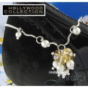 アンクレット レディース シャンパン ゴールド オーストリア クリスタル ハリウッド コレクション|celeb-cz-jewelry