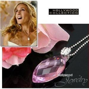 ネックレス ピンク オーストリア クリスタル ブリオレット ネックレス| サラ ジェシカ パーカー コレクション|celeb-cz-jewelry