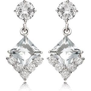 ピアス ダイヤモンド プリンセス 揺れる ピアス|ハリウッド セレブ コレクション|celeb-cz-jewelry