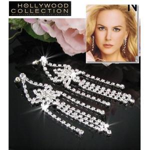 ブライダル 揺れる ピアス ダイヤモンド ストリーム  ニコール キッドマン シャネルNo5 モデル コレクション|celeb-cz-jewelry