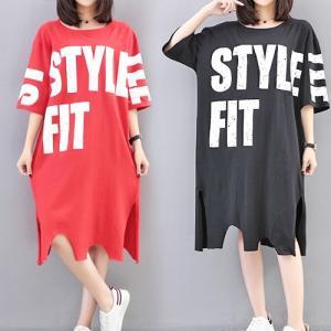 大きいサイズ レディース Tシャツ 英字ロゴ 裾切りっぱなしチュニック 半袖 大人体型/大きいサイズ レディース  40代 50代 30代 春夏 (取寄)|celeb-honey