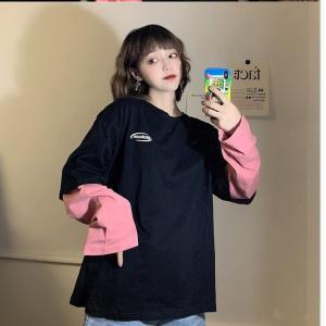 大きいサイズ レディース レイヤードトップス セレカジ重ね着 英字ロゴ オーバーサイズ ビック 長袖 /40代 50代 30代 秋冬 2019AW(取寄)|celeb-honey