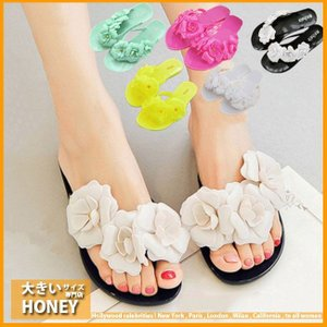 レディース シューズ 靴 くつ サンダル ビーチサンダル ペタンコ フラワー 花 リゾート  取寄|celeb-honey