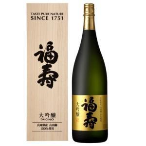 日本酒 1800ml 大吟醸 淡麗辛口 上品 フルーティー 福寿 大吟醸 木箱入り|cellar-house