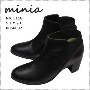 minia ミニア バックゴアブーツ 3118  レディース |centas
