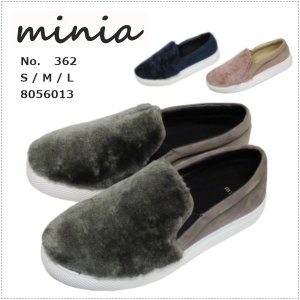 セール minia ミニア ふわふわ ファー スリッポン 362 |centas