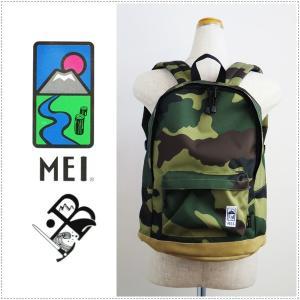 MEI エムイーアイ 白黒ラベルデイパック BASIC DAYPACK MEIB-130 8085007 リュックサック バックパック|centas