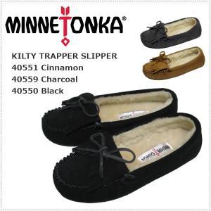セール  MINNETONKA ミネトンカ  KILTY TRAPPER SLIPPER レディース|centas