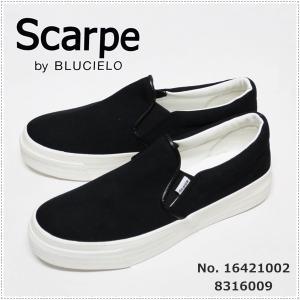 セール 30%OFF キャンバススリッポン  BLUCIELO ブルチェーロ  16421002  レディース CANVAS slip-on shoes  Scarpe by BLUCIELO  8316009|centas