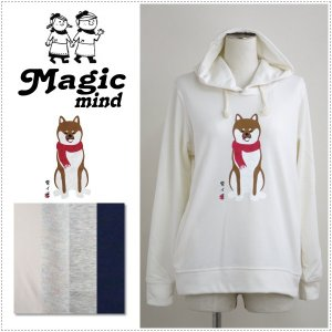 MagicMind マジックマインド  TC裏毛 プリント パーカー  柴犬|centas
