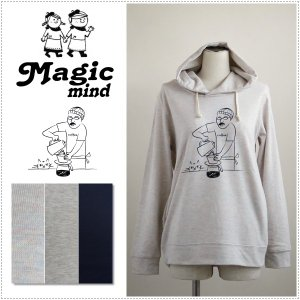 MagicMind マジックマインド  TC裏毛 プリント パーカー  コーヒーオジサン|centas