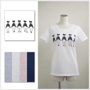 Magic Mind マジックマインド 「チョビヒゲダンス」プリントTシャツ  レディース  半袖Tシャツ|centas