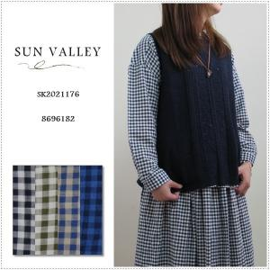SUN VALLEY サンバレー スラブギンガムチェック2WAYシャツ   SK2021176|centas