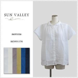 SALE 20%OFF SunValley サンバレー 無地ボイルシャツ SK5001176 レディース 製品染め ブラウス 綿|centas