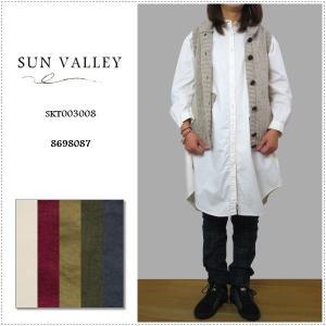Sun Valley サンバレー 無地長袖オックスシャツチュニック SKT003008 レディース 製品染め|centas