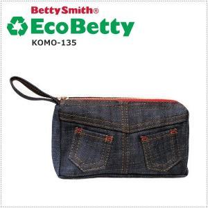 エコベティ Betty Smith ベティスミス デニムポーチ バックスタイル KOMO135|centas