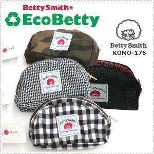 BettySmith エコベティ デニムミニポーチ 柄ミニポーチ KOMO176 ベティスミス コインケース|centas