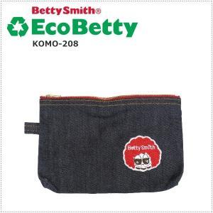 BettySmith エコベティ BETTYワッペンポーチ KOMO208 ベティスミス|centas