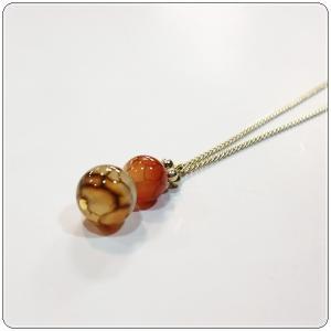 Loato(ロアトゥ)ネックレス 天然石 メノウ クラウディークォーツ LFBR102|centas