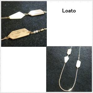 Loato(ロアトゥ) ネックレス 天然石 クラウディークォーツ|centas
