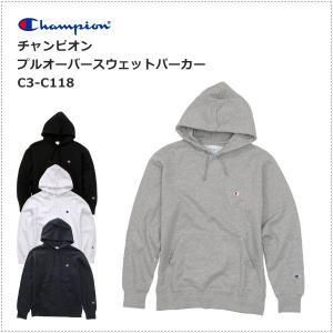 チャンピオン  左胸Cロゴ刺繍 プルオーバー スウェットパーカー  C3-C118|centas