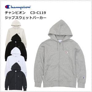 チャンピオン  左胸Cロゴ刺繍 ジップ スウェットパーカー  C3-C119|centas