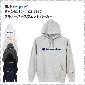 チャンピオン  ロゴプリント プルオーバー スウェットパーカー  C3-J117|centas