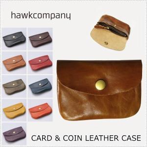 Hawk Company ホークカンパニー  ソフトレザー ウォレット  3410  カードケース  財布  コインケース  小銭入れ|centas