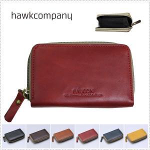 Hawk Company ホークカンパニー FAUCON レザー ラウンドファスナー カードケース  HK3432|centas