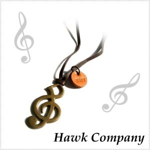 Hawk Company ホークカンパニー ト音記号 ネックレス 音符 HK5131 |centas