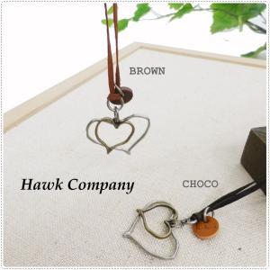 Hawk Company ホークカンパニー ハート モチーフ レザー ネックレス  HK5144|centas