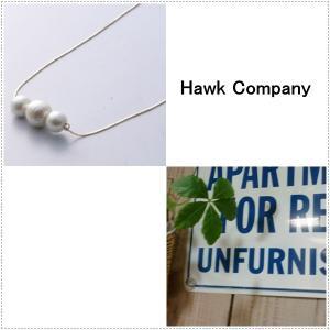 Hawk Company ホークカンパニー コットンパールネックレス  HK5322 ニッケルフリー|centas