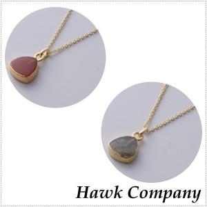 Hawk Company ホークカンパニー 天然石 ラブラドライト レッドアゲート ネックレス|centas