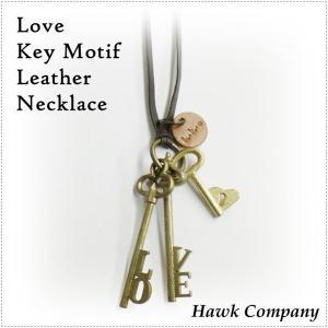 Hawk Company ホークカンパニー LOVE ハート キー 鍵 ネックレス HK5471|centas