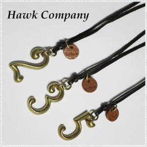 Hawk Company ホークカンパニー No ナンバー モチーフ レザー ネックレス  HK5502|centas