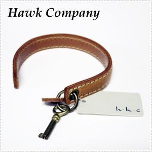 Hawk Company ホークカンパニー キー付レザーブレスレット HK6035|centas