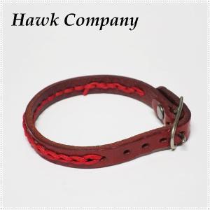 Hawk Company ホークカンパニー ハンドステッチ ベルトレザー ブレスレット HK6072|centas