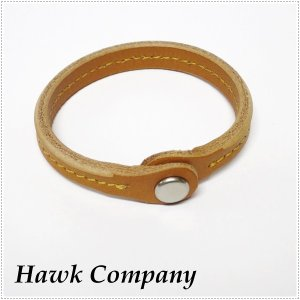 Hawk Company ホークカンパニー レザー スナップ ブレスレット HK6081|centas