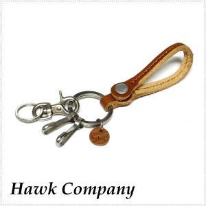 Hawk Company ホークカンパニー レザー キーホルダー スナップボタン HK6241 革|centas