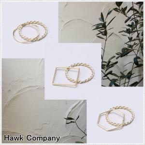 Hawk Company ホークカンパニー 変形 2連 リング HK6350|centas