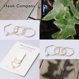 Hawk Company ホークカンパニー 真鍮 変形 リング HK6356|centas