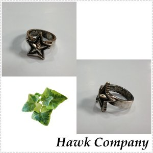 Hawk Company ホークカンパニー アンティーク調 スター 星 リング  HK6377|centas