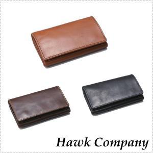 Hawk Company ホークカンパニー レザーウォレット 折りたたみ本革財布 7218 |centas
