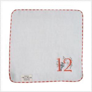 SKTC123-12  Shinzi Katoh  ナンバーくるり 『12』 タオルハンカチ  ガーゼ&無撚糸  ハンカチタオル|centas