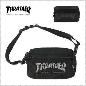 THRASHER THRSG400 ミニショルダーバッグ ウエストバッグ 斜め掛けバッグ 男女兼用 ワンショルダー ウエストポーチ centas
