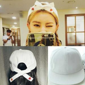 1e06bf42e53 送料無料 ハート リボン キャップ 帽子 オルチャン オルチャンファッション シンプル