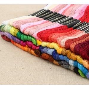 送料無料 刺繍糸 100束セット 大容量 刺繍 ししゅう クロスステッチ ミサンガ 裁縫 手芸 糸 ソーイング cente 02