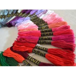 送料無料 刺繍糸 100束セット 大容量 刺繍 ししゅう クロスステッチ ミサンガ 裁縫 手芸 糸 ソーイング cente 03